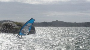 THOMAS WINDSURFING: one of his favorite sports