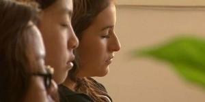 High school students practicing Transcendental Meditation