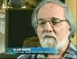 Alan Waite, director of Sage For a New Generation, footage from which was also used in the documentary
